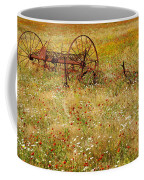 Ranch And Wildflowers And Old Implement 2am-110546 Coffee Mug