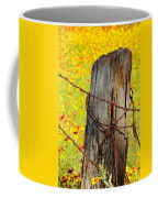 Ranch Wildflowers And Fence 2am-110532 Coffee Mug