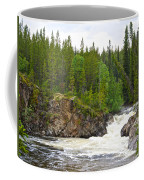 Rancheria Falls Along Alaska Highway In Yk-canada   Coffee Mug