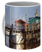 Randys Whale Watching And Fishing Trips Watercolor Coffee Mug