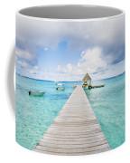 Rangiroa Atoll Pier On The Ocean Coffee Mug