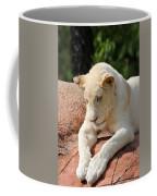 Rare Female White Lion Coffee Mug