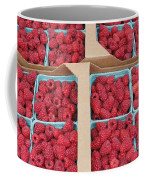 Raspberry Pints In Cardboard Flats Coffee Mug