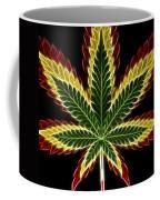 Rasta Marijuana Coffee Mug by Adam Romanowicz