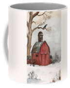 Raven And The Red Barn Coffee Mug