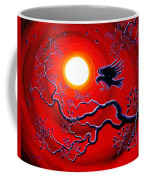 Raven In Ruby Red Coffee Mug