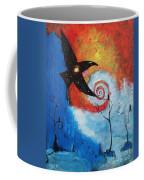 Raven In The Swirl Coffee Mug