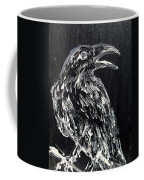Raven On The Branch - Oil Painting Coffee Mug