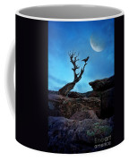 Raven On Twisted Tree With Moon Coffee Mug
