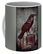Raven Perched On A Post Coffee Mug