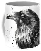 Raven Watercolor Portrait Coffee Mug