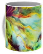 Rays Of The Sun Watercolor Abstraction Painting Coffee Mug