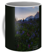 Rays Over Rainier Coffee Mug