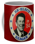 Re-elect Reagan Coffee Mug by Paul Ward