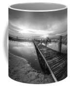 Reaching Into Sunset In Black And White Coffee Mug