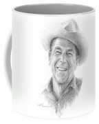 Reagan Drawing Mike Theuer Coffee Mug