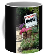 Real Estate For Sale Sign And Garden Coffee Mug