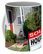 Real Estate Sold House Sign And Home For Sale Coffee Mug