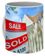 Real Estate Sold Sign Coffee Mug by Olivier Le Queinec