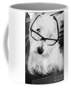 Really Portait Of A Westie Wearing Glasses Coffee Mug