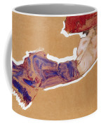 Reclining Semi-nude With Red Hat Coffee Mug