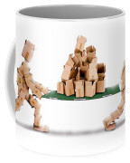 Recycling Boxes By Box Characters And Stretcher Coffee Mug