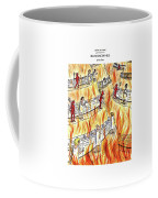 Recycling In Hell Unbent Paper Clips Coffee Mug by Roz Chast