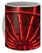 Red Abstract Carnival Lights Coffee Mug