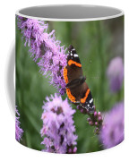 Red Admiral Butterfly On A Blazing Star Coffee Mug
