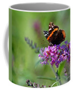 Red Admiral Butterfly On Butterfly Bush Coffee Mug