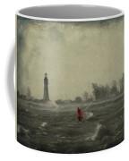 Red Among The Waves Coffee Mug