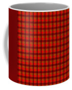 Red And Black Checkered Tablecloth Cloth Background Coffee Mug