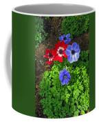 Red And Blue Anemones Coffee Mug