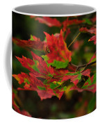 Red And Green Autumn Leaves Coffee Mug