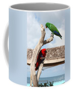 Red And Green Parrots Coffee Mug