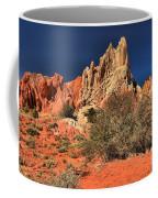 Red And White Desert Towers Coffee Mug