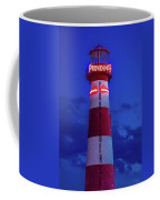 Red And White Lighthouse Shows Neon Coffee Mug
