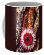 Red And White Mum With Indian Corn Coffee Mug