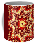 Red And White Patchwork Art Coffee Mug
