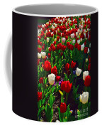 Red And White Tulip Art Coffee Mug