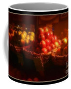 Red And Yellow Apples In Baskets Coffee Mug