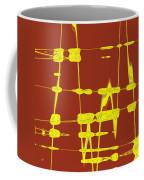 Red And Yellow Wave No 4 Coffee Mug