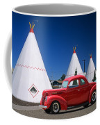 Red Antique Car Coffee Mug