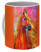 Red Arabian Horse Impressionistic Painting Coffee Mug by Svetlana Novikova