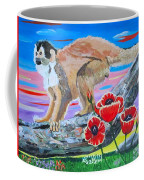 Red Backed Squirrel Monkey Base On A Photo By Larry Linton Coffee Mug