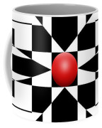 Red Ball 1 Panoramic Coffee Mug