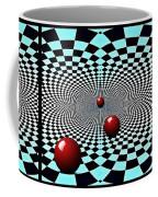 Red Balls Triptych Coffee Mug