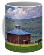 Red Barn And Barbed Wire Coffee Mug