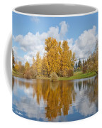Red Barn And Fall Colors Reflected In A Pond Coffee Mug