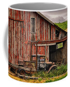 Red Barn And Truck In The Palouse Coffee Mug
